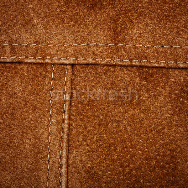Seam on suede product Stock photo © Taigi