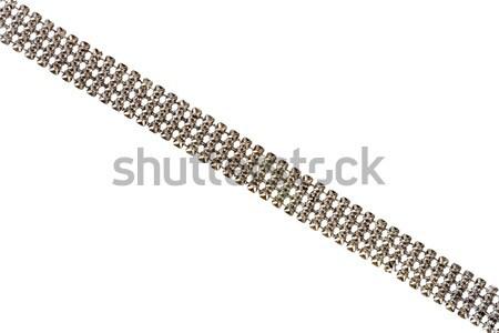 Ezüst lánc részlet öreg izolált fehér Stock fotó © Taigi