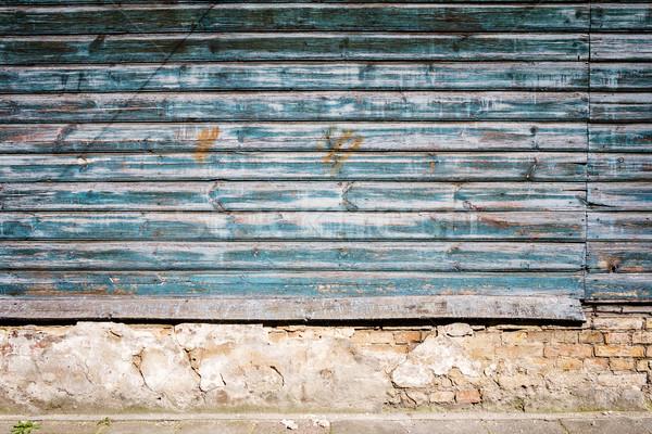 Pelling paint on wood Stock photo © Taigi