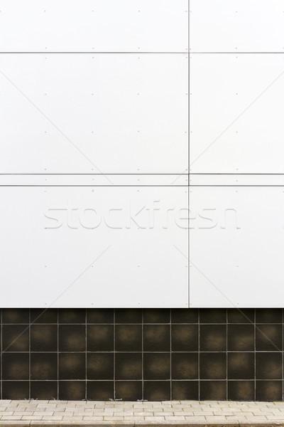 Modern fehér fal textúra viharvert csempe Stock fotó © Taigi