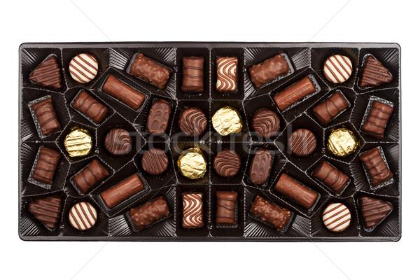 ボックス 孤立した 白 紙 健康 チョコレート ストックフォト © Taigi