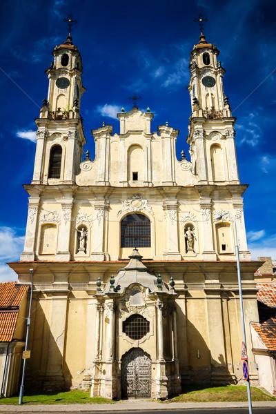 ミッション 教会 捨てられた 古い ヴィルニアス リトアニア ストックフォト © Taigi