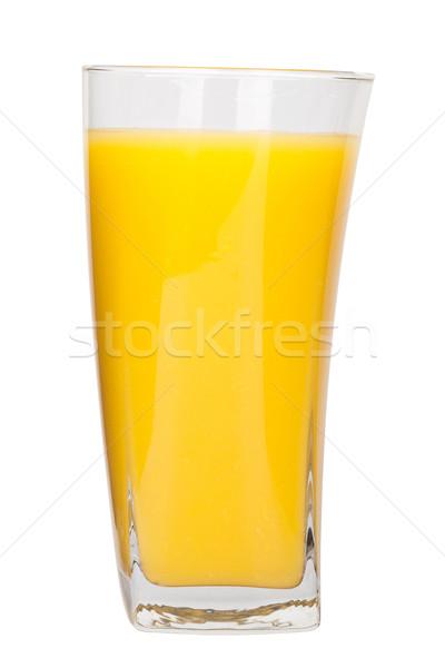 Stockfoto: Vol · glas · sinaasappelsap · witte · drinken · ontbijt