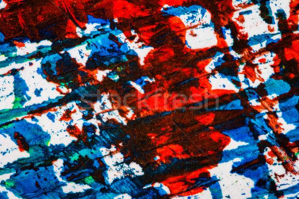 аннотация искусства стороны окрашенный синий красный Сток-фото © Taigi