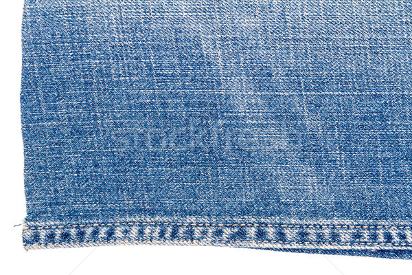 Parça açık mavi kot kumaş yalıtılmış beyaz Stok fotoğraf © Taigi