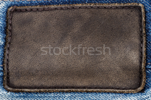 Black leather jeans label   Stock photo © Taigi