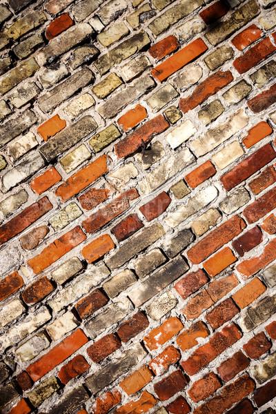 Stockfoto: Geel · Rood · muur · textuur · huis · gebouw