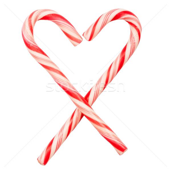 Christmas candy canes Stock photo © Taigi