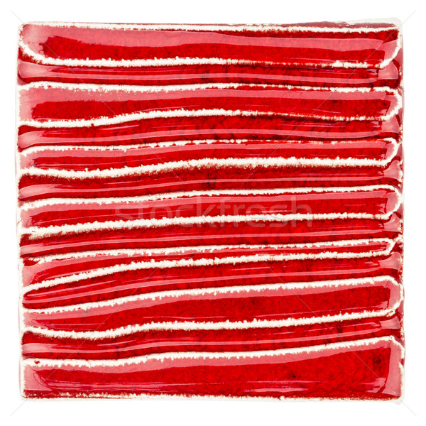 Handmade glazed red ceramic tile Stock photo © Taigi