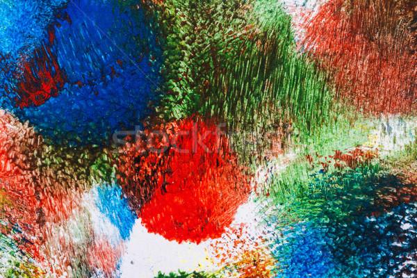 ストックフォト: 抽象的な · アクリル · 芸術 · マクロ · ショット · 光