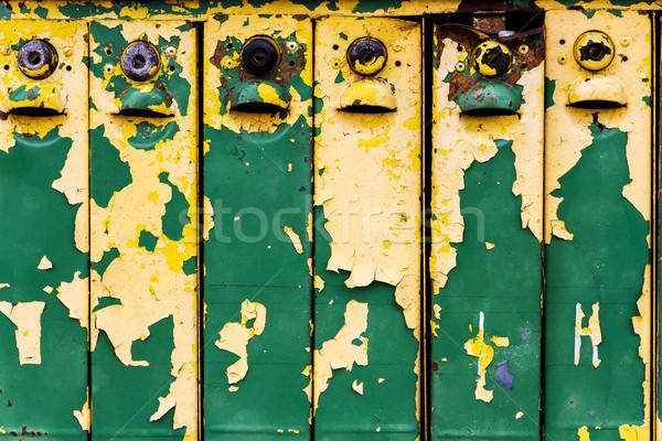 Old weathered iron mailboxes Stock photo © Taigi