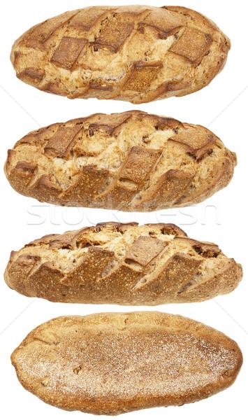 Pão pão quatro isolado branco cor Foto stock © Taigi