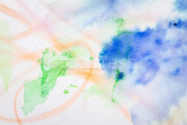 Soyut mavi kırmızı sanat makro atış Stok fotoğraf © Taigi