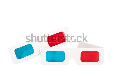 Twee stereo bril geïsoleerd witte mode Stockfoto © Taigi