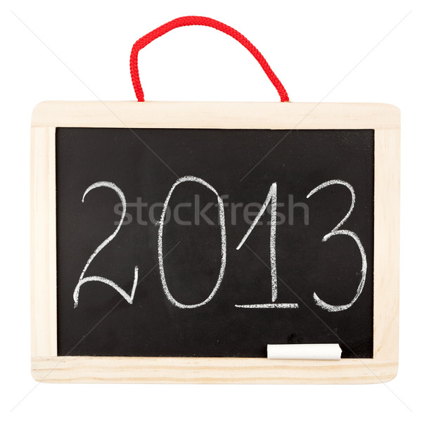 Number 2013 on small blackboard  Stock photo © Taigi