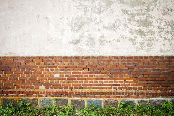Rojo blanco pared piedra sótano edificio Foto stock © Taigi