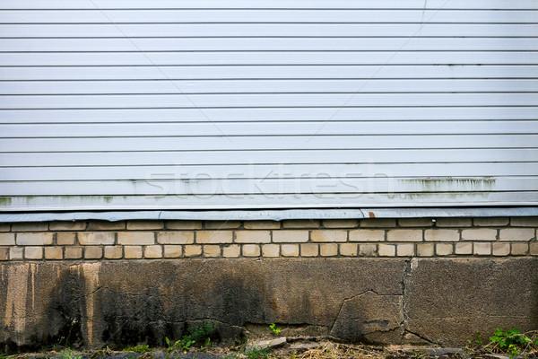 Blanco plástico pared capeado edad Foto stock © Taigi