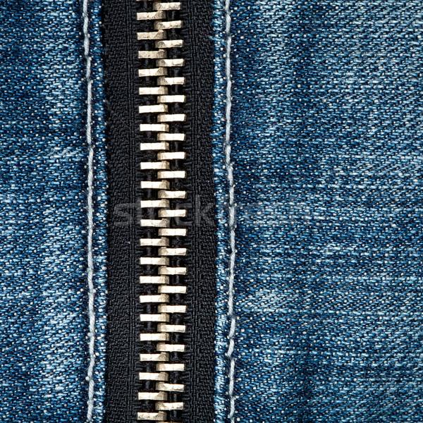 ジッパー ジーンズ ファッション 背景 青 ストックフォト © Taigi