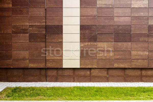 современных коричневый металл плитки стены фасад Сток-фото © Taigi