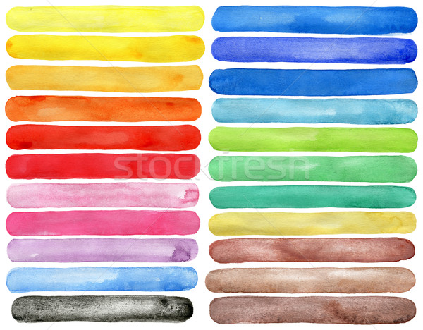 Watercolor hand painted brush strokes Stock photo © Taigi