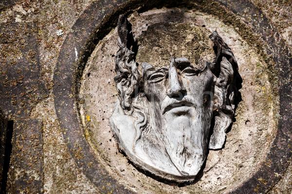 Rotto faccia Gesù Cristo vecchio lapide Foto d'archivio © Taigi