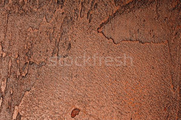 Bruin muur textuur pleisterwerk verf achtergrond Stockfoto © Taigi
