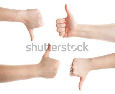 Mains pas encourageant gestes blanche Photo stock © Taigi