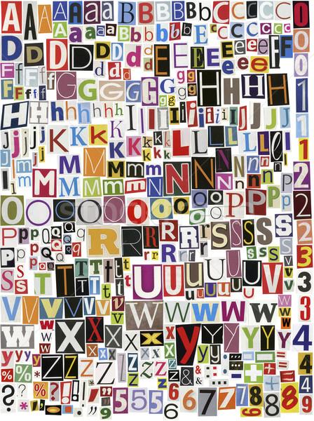 Stockfoto: Krant · alfabet · groot · maat · magazine · brieven