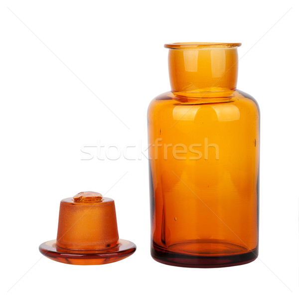 Brown glass chemical bottle Stock photo © Taigi