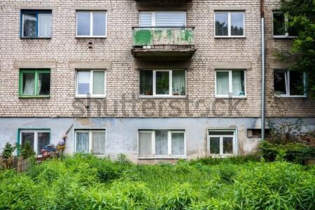 壁 古い アパート 捨てられた 庭園 家 ストックフォト © Taigi