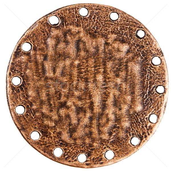 Reverse side of bronze pendant Stock photo © Taigi
