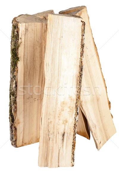 Brandhout geïsoleerd witte textuur natuur groep Stockfoto © Taigi