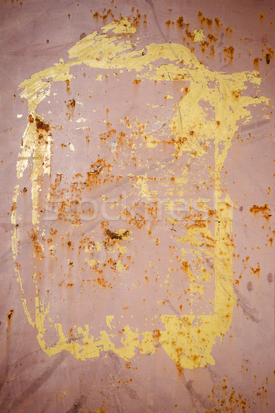 Peeling brown paint on a rusty metal texture Stock photo © Taigi
