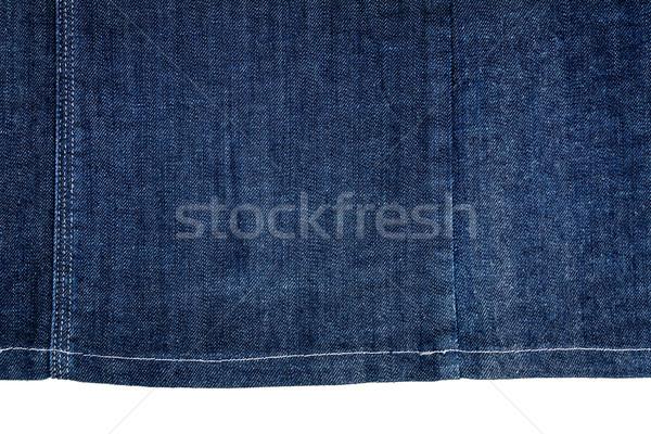 Kawałek ciemne tkaniny odizolowany biały Zdjęcia stock © Taigi