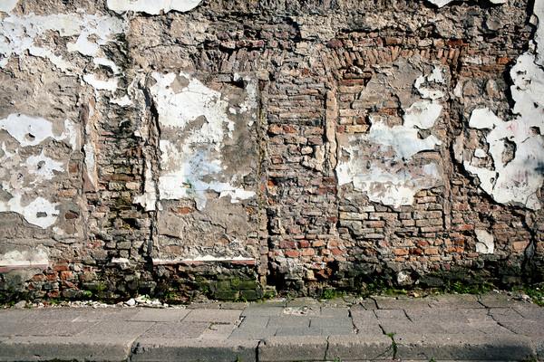 Oude muur deur hout bouw home Stockfoto © Taigi