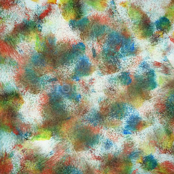 Сток-фото: аннотация · искусства · стороны · окрашенный · искусств · зеленый