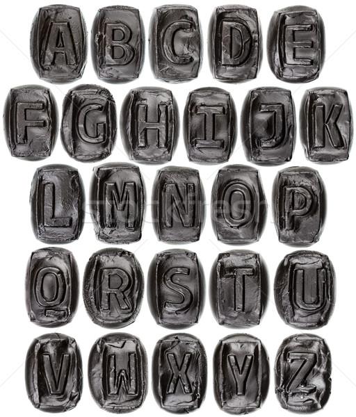Ceramica lettere alfabeto lettera verniciato Foto d'archivio © Taigi