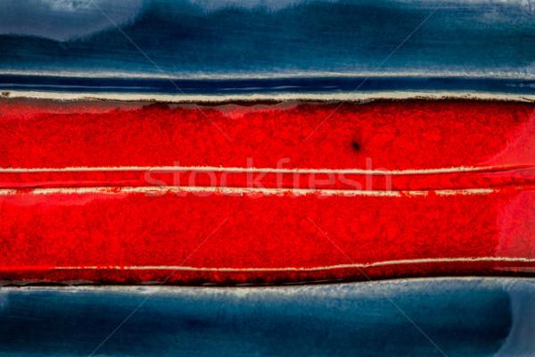 Stock photo: Closeup shot of glazed ceramics texture