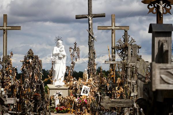 Colina cruzes famoso peregrinação norte Foto stock © Taigi