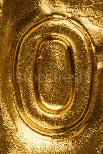 Golden letter O Stock photo © Taigi