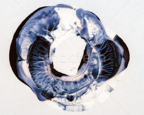 アクリル サークル 抽象的な 手 描いた 紙 ストックフォト © Taigi