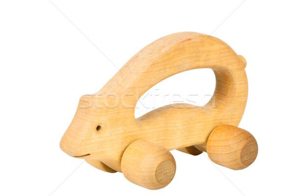 Porco rodas isolado branco olho Foto stock © Taigi