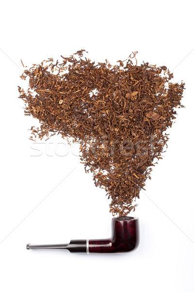 курение трубы табак изолированный белый фон Сток-фото © Taigi