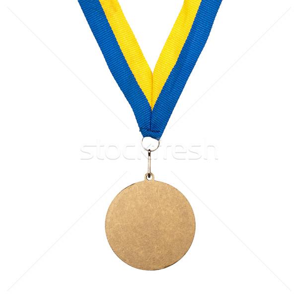 金メダル リボン 孤立した 白 スポーツ 青 ストックフォト © Taigi