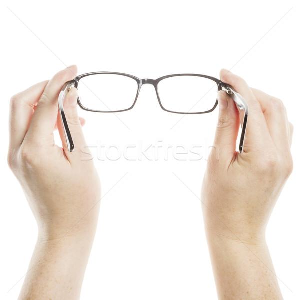 Handen bril geïsoleerd witte oog Stockfoto © Taigi