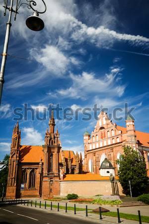 Templom kolostor Vilnius Litvánia szűrő égbolt Stock fotó © Taigi