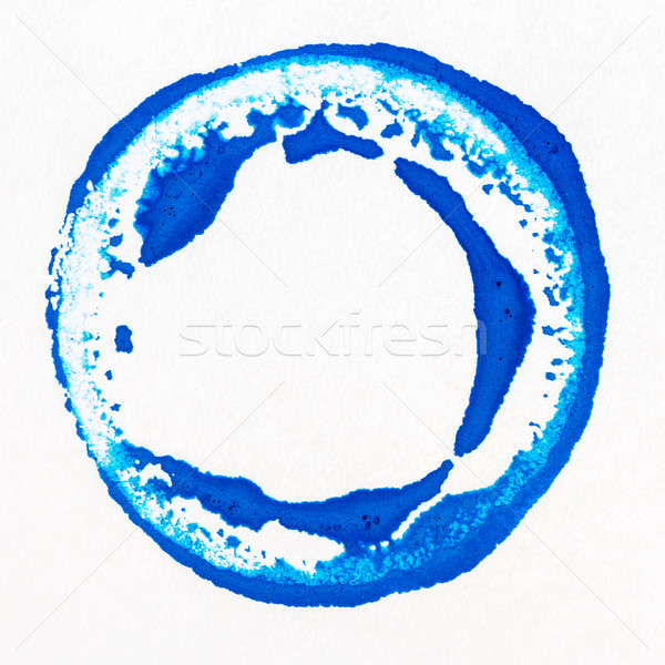 Foto stock: Vibrante · acrílico · pintura · círculo · azul · blanco