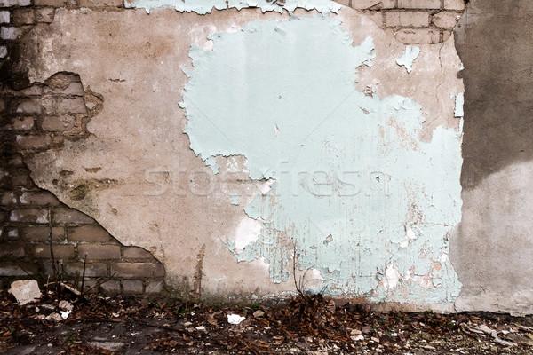 öreg tégla tapasz fal textúra városi Stock fotó © Taigi