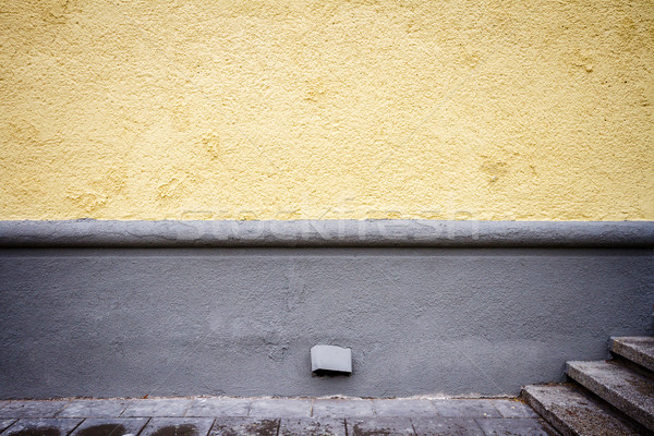 Stock photo: Freshly painted yellow wall