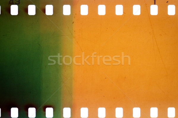 Oude grunge filmstrip Geel trillend luidruchtig Stockfoto © Taigi
